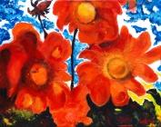 090-oranje-bloemenweelde