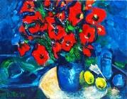 091-stilleven-blauwe-vaas-citroenen
