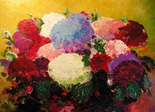 097 - Compositie met hortensia