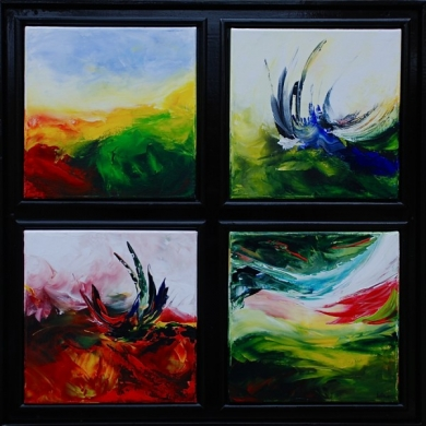 107 Abstract vierluik Wenteling