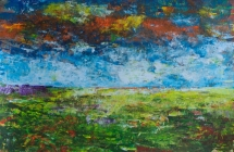 312 - Landschap met oranje lucht