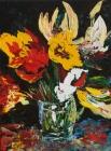 324 - Bloemen in glas