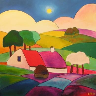 067 - Kleurig landschap
