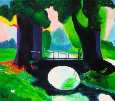 040 - Blauwe beuken bij de brug